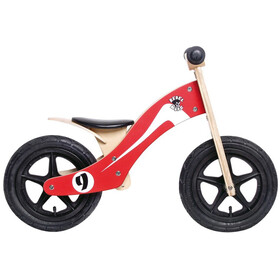 "Rebel Kidz Wood Air loopfiets Kinderen 12"" Retro Racer rood"